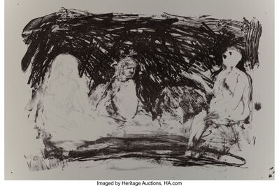 Eric Fischl, 'Annie, Gwen, Lilly, Pam, and Tulip (Three seated women)', 1987