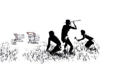 Banksy, 'Trolley Hunters', 2007