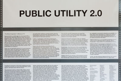 Mary Ellen Carroll, 'Preparations for Public Utility 2.0', 2014