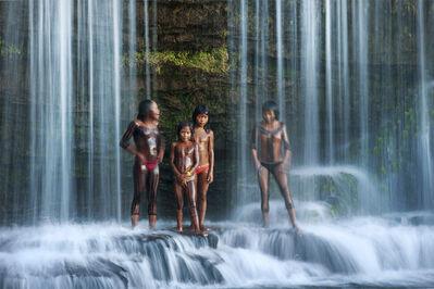 Cristina Mittermeier, 'Waterfall Bath'