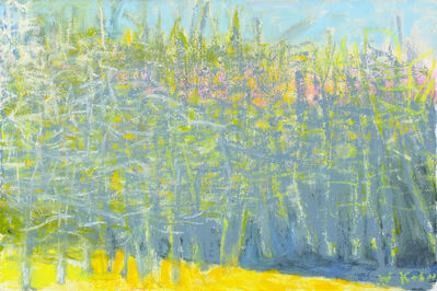 Wolf Kahn, 'Primarily Lemon Yellow and Gray', 2014