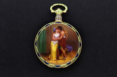 Moser & Cie, ''Apollo's Embrace' - Enamel Pocket Watch', ca. 1820