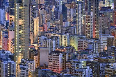 Romain Jacquet-Lagrèze, ''The Blue Moment #11' Hong Kong', 2016