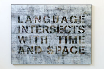 Pascal Dombis, 'Language Intersects with Time and Space', 2018