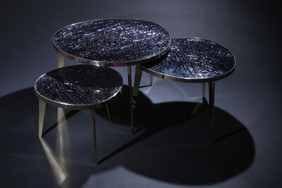 "Ghiro Studio, '""Tris,"" Nest of Three Tables', 2017"