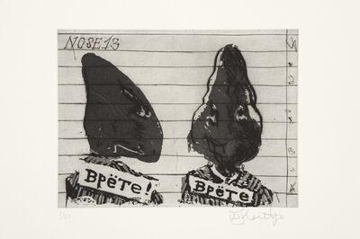 William Kentridge, 'Nose 13', 2008