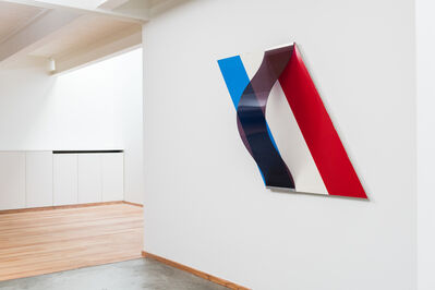 Bob Bonies, '1966 Monumental diagonal composition with vertical curve by Bob Bonies', 1966