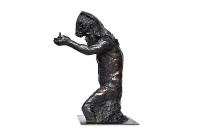 Beth Carter, 'Theseus (with candle) 3/4 study on steel base', 2014