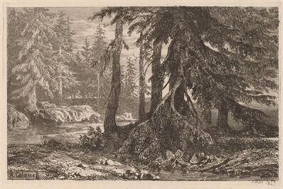 Alexandre Calame, 'Essais de gravure à l'eau forte par Alexandre Calame, III, pl. 16', 1845