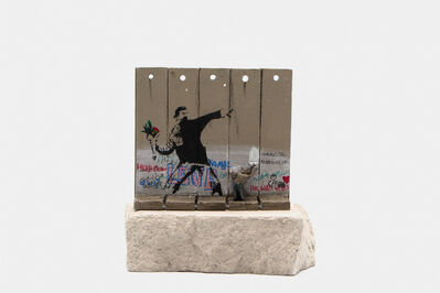 Banksy, 'Walled Off Hotel - Wall Sculpture (Flower Thrower)', 2018