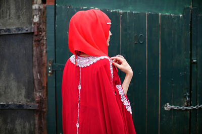 Mahtab Hussain, 'Red Hijab, Red Dress and Bling', 2013