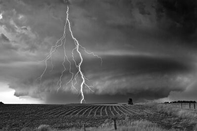 Mitch Dobrowner, 'Supercell and Lightning', 2014