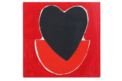 Sir Terry Frost, 'Heart acrylic, collage and pencil'