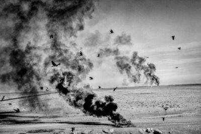 Matt Black, '  Burning tires. Corcoran, CA.', 2014