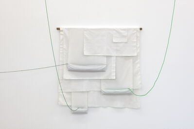 João Modé, 'Constructive [Paninho], white with green beads', 2019