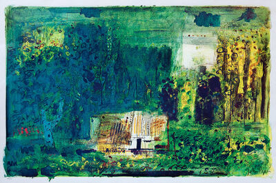 John Piper, 'Woodman's Cottage, Charente', 1968