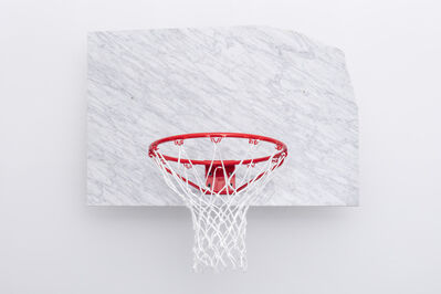 Guillermo Santomà, 'Basketball Backboard + Pot + Basketball', 2018