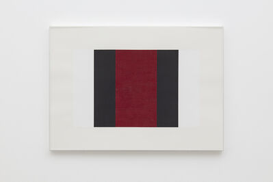 Mary Corse, 'Untitled (White, Black, Red)', 2001
