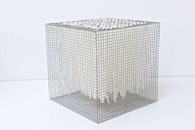 Rakuko Naito, 'RNcube1-08 Wire Mesh with Paper Cube', 2008