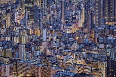 Romain Jacquet-Lagrèze, ''The Blue Moment #8' Hong Kong', 2016