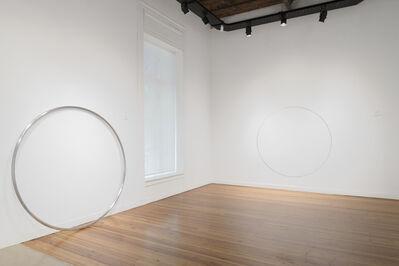 David Lamelas, 'Desplazamiento de un círculo negro I y II', 2018