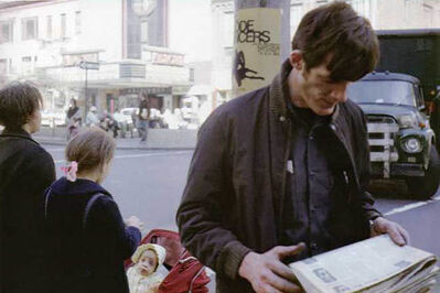 Helen Levitt, 'N.Y.C. (man with newspaper)', 1971