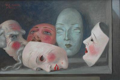 Volker Stelzmann, 'Fünf Masken', 2016