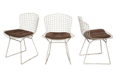 Harry Bertoia, 'Set of Six Harry Bertoia Enameled Metal Dining Chairs, For Knoll'