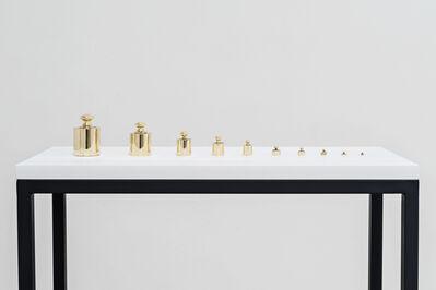 Reynier Leyva Novo, 'El peso de la muerte (serie de pesas de 1 g. a 1 Kg. fundidas con latón de balas)', 2016