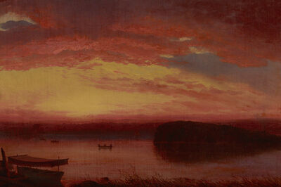 Louis Rémy Mignot, 'Sunset on Lake George', ca. 1860