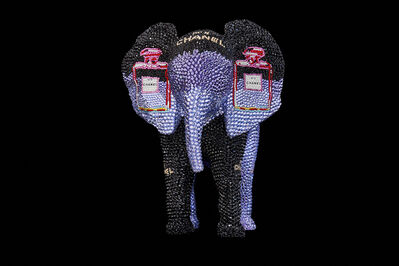 Metis Atash, 'Elephant 'Chanel NO. 5 in Purple - Featuring Warhol'', 2019