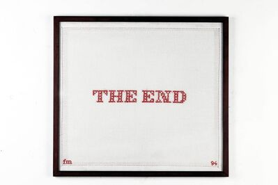 Fabio Mauri, 'The end - ricami (The end - embroideries)', 1994