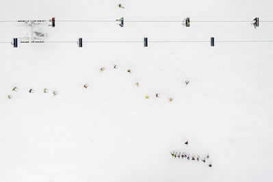 Kacper Kowalski, 'Side Effects, Depth of Winter, Skiers 02', 2016