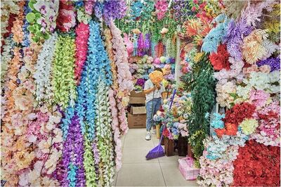 David Burdeny, 'Flower Vendor 02, Yiwu, China', 2019