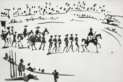 Pablo Picasso, 'Paseo de Cuadrillas (Ride of the Bullfighting Teams)', 1959