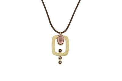 Janis Kerman, 'Tourmaline and Smokey Quartz Necklace '