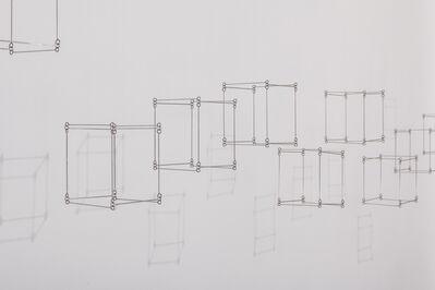 Elias Crespin, '12 cubos en linea (Tapiz doble 11)', 2014