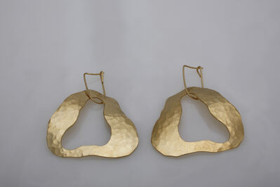 "Jacques Jarrige, 'Gold-plated earrings by Jacques Jarrige ""Cloud"" ', 2014"