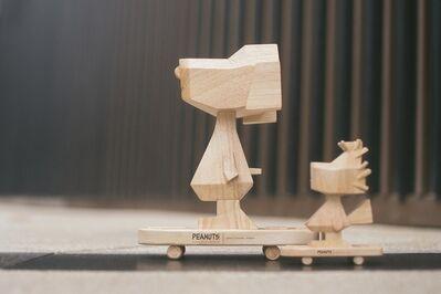 Nina Chanel Abney, 'Peanuts Snoopy and Woodstock (Wood)', 2020