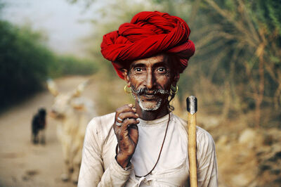 Steve McCurry, 'Rabari Shepherd, Rajasthan, India', 2009