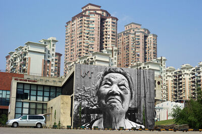 JR, 'The Wrinkles of the City - Shi Li', 2011