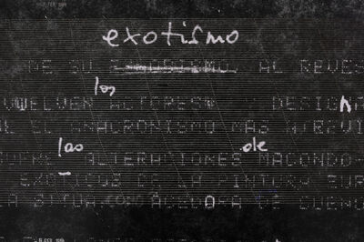Muriel Hasbun, 'Pulse: Exotismo al revés (Homage, Janine Janowski and Rosa Mena Valenzuela)', 2020
