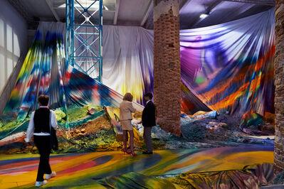 Katharina Grosse, 'Untitled Trumpet (Installation view)', 2015
