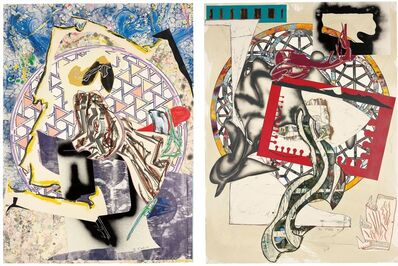 Frank Stella, 'Waves I and II: Six Works', 1989
