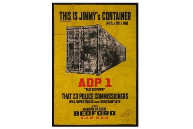James Cauty, 'ADP-1: This Is Jimmy's Container', 2016