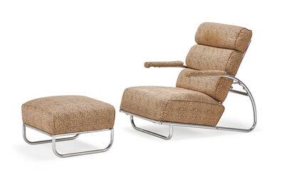 Gilbert Rohde, 'Adjustable lounge chair and ottoman', 1930s