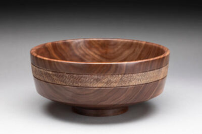 Dan Chevalier, 'Texture banded walnut bowl', 2020