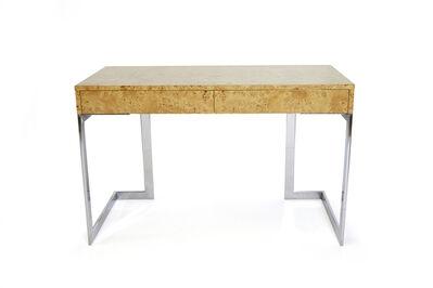 Milo Baughman, 'Milo Baughman, Burlwood Desk', 1970s