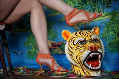 Marcos López, 'Piernas y tigre', 2012
