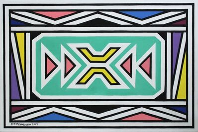 Esther Mahlangu, 'Ndebele Abstract - C001345', 2019
